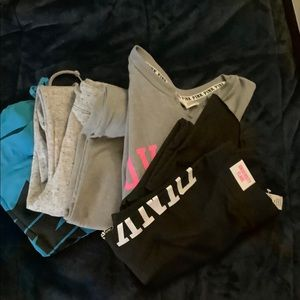 LOT OF BRAND NEW PINK VICTORIA SECRET PANTS/1SHIRT